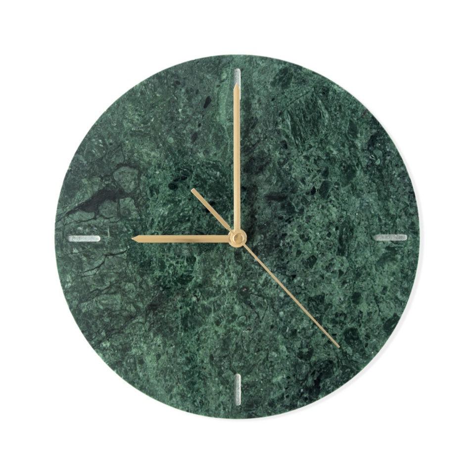 Grønt marmor ur til væggen