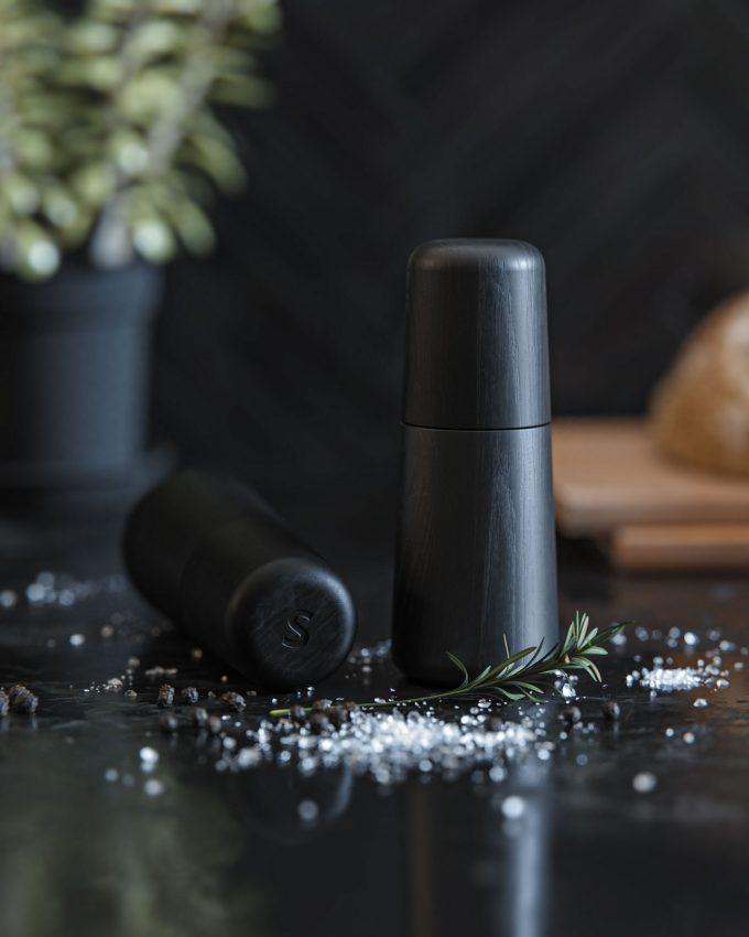 Salt og peber kværn sort