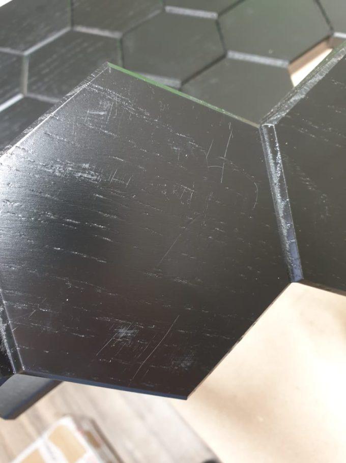 Sortlakeret egetræ hexagon knivmagnet